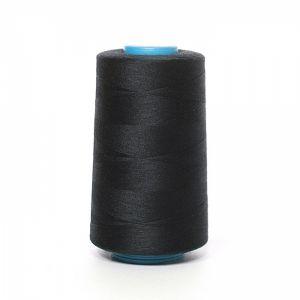 Нитки швейные  бобина черная