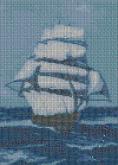 Алмазная вышивка АВ 3015 25,3*35,2см Парус полная зашивка