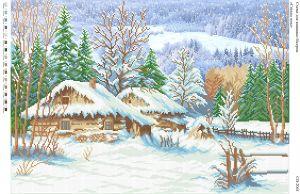 Схема для вышивки бисером   СВ 2041 Зима   формат А2