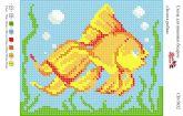 Схема для вышивки бисером   СВ 5032 Рыбка полная зашивка