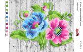 Схема для вышивки бисером   СВ 5116 Цветы