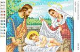 Схема для вышивки бисером Ісус в колисці СВР 4016 Формат А4