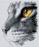 Алмазная вышивка АВ 4045 19*23см Кошка полная зашивка