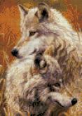 Алмазная вышивка АВ 3042  Волки полная зашивка