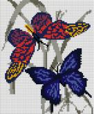 Алмазная вышивка АВ 4042 19*23см Бабочки полная зашивка