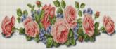 Алмазная вышивка Пано АП 09 20см*46,8см Розы полная зашивка