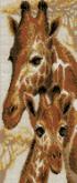 Алмазная вышивка Пано АП 07 20см*46,8см Жирафы полная зашивка