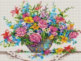 Алмазная вышивка АВ 2007 Цветы полная зашивка