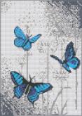 Алмазная вышивка АВ 3043 Бабочки  полная зашивка