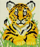 Алмазная вышивка АВ 5045 12,5*14,5см Тигр полная зашивка