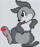 Алмазная вышивка АВ 5064 12,5*14,5см Заяц полная зашивка