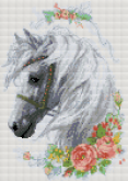 Алмазная вышивка АВ 3050  Лошадь полная зашивка