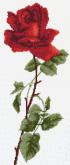 Алмазная вышивка Пано АП 10 20см*46,8см Роза частичная зашивка