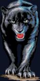 Алмазная вышивка АВ 3505 26см*52см  Пантера полная зашивка